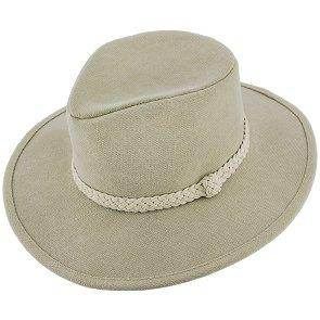 Walrus Hats Outback Boatsman Charter - Walrus Hats Tan Canvas Fabric Outback Hat - H7012