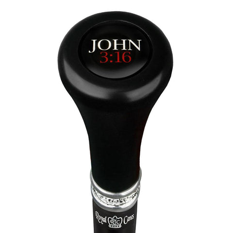 Royal Canes John 316 Top Walking Stick w/ Black Beechwood Shaft & Pewter Collar
