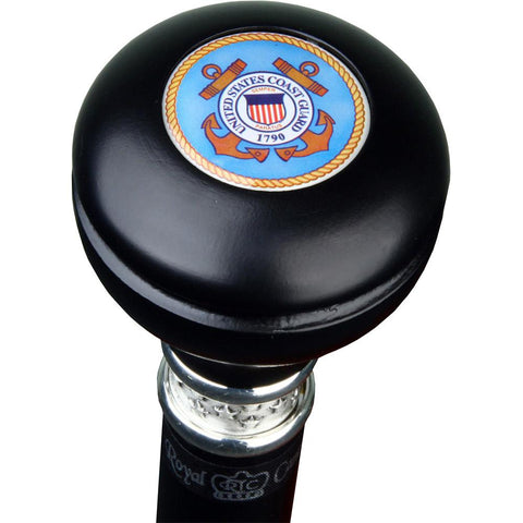Royal Canes Coast Guard Knob Walking Stick With Black Beechwood Shaft and Pewter Collar