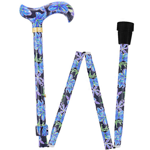 Royal Canes Dark Blue Vivienne May Folding Adjustable Cane