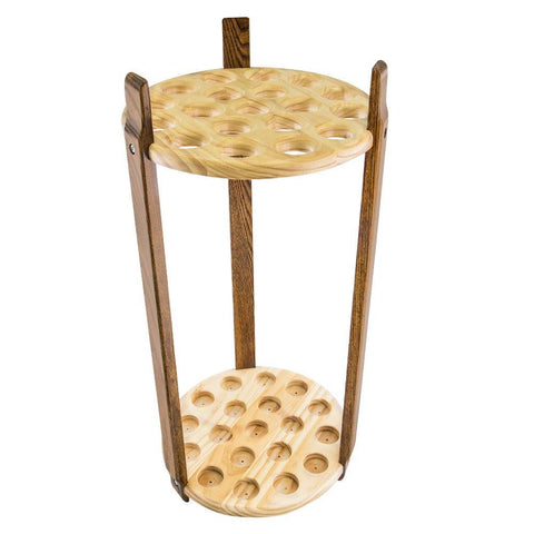 Royal Canes Espresso Stained Ash & Pine Round Cane Stand