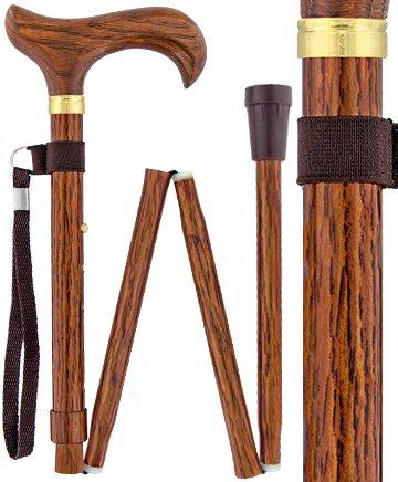 Royal Canes Realistic Wood Designer Folding Adjustable Walking Cane