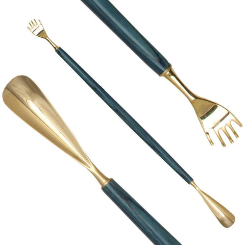 Royal Canes Blue Ash Shoe Horn w/ Back Scratcher