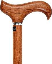 Royal Canes Genuine Bubinga Derby Walking Cane With Bubinga Wood Shaft and Silver Collar