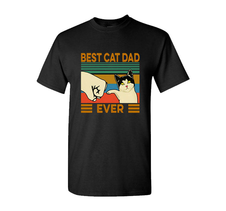 Best Cat Dad Ever T-Shirt Funny Father's Day Gift