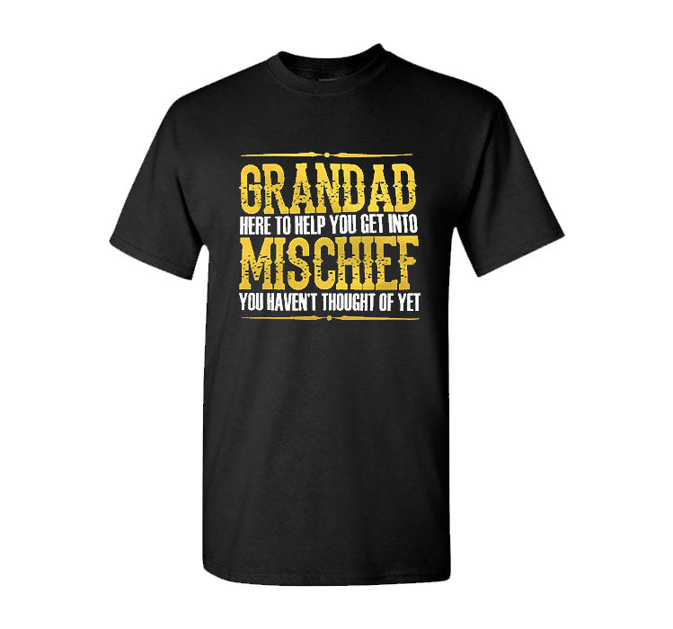 Grandad Mischief Mens Funny T Shirt Gift Grandad Birthday Fathers Day T Shirt