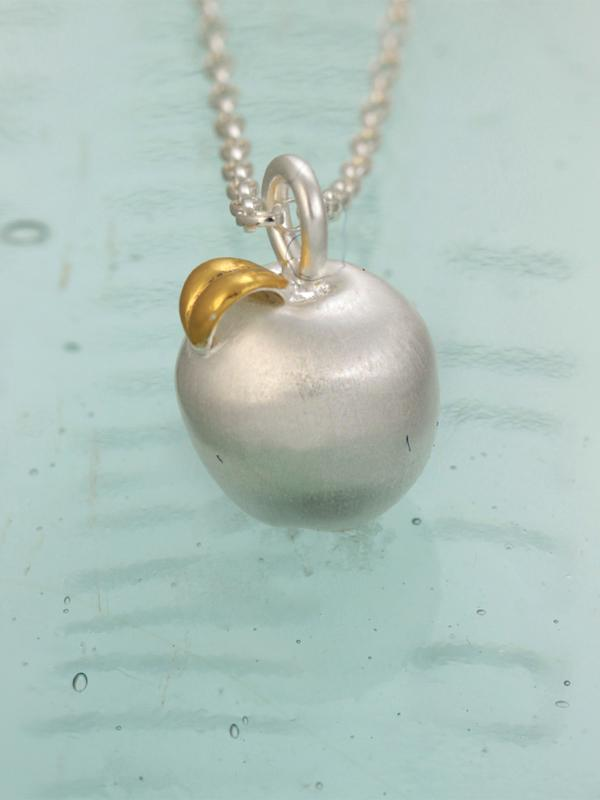 Apple of my Eye Silver & Gold Pendant