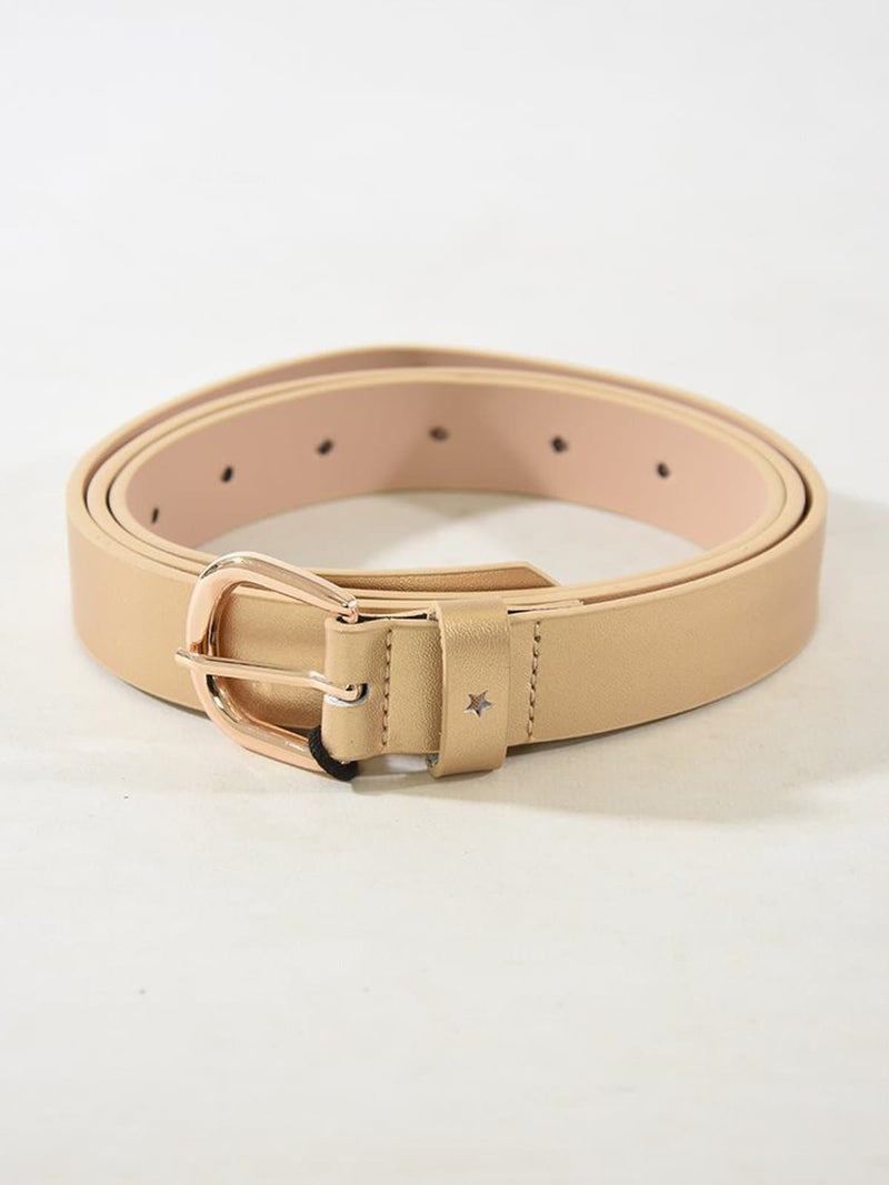 Gold Metallic Leather Belt
