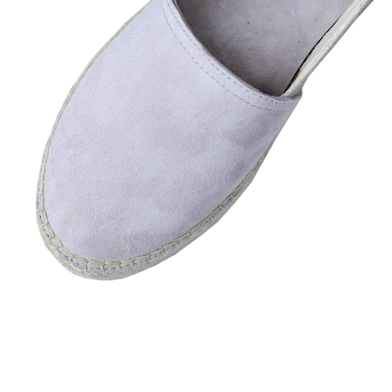 Flat Espadrilles Grey Two Tone