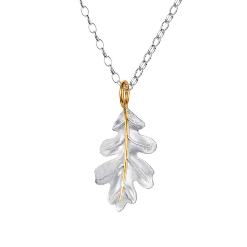 Oak Leaf Silver & Gold Pendant