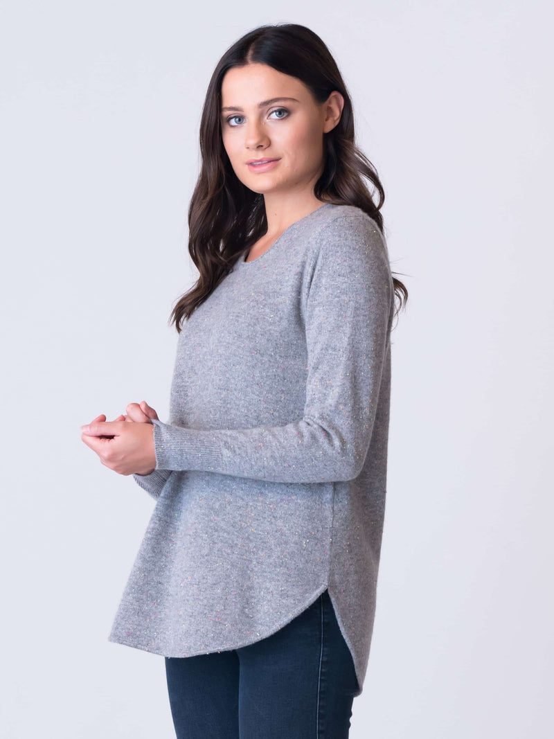 Grey Merle Jumper at Silver Pink