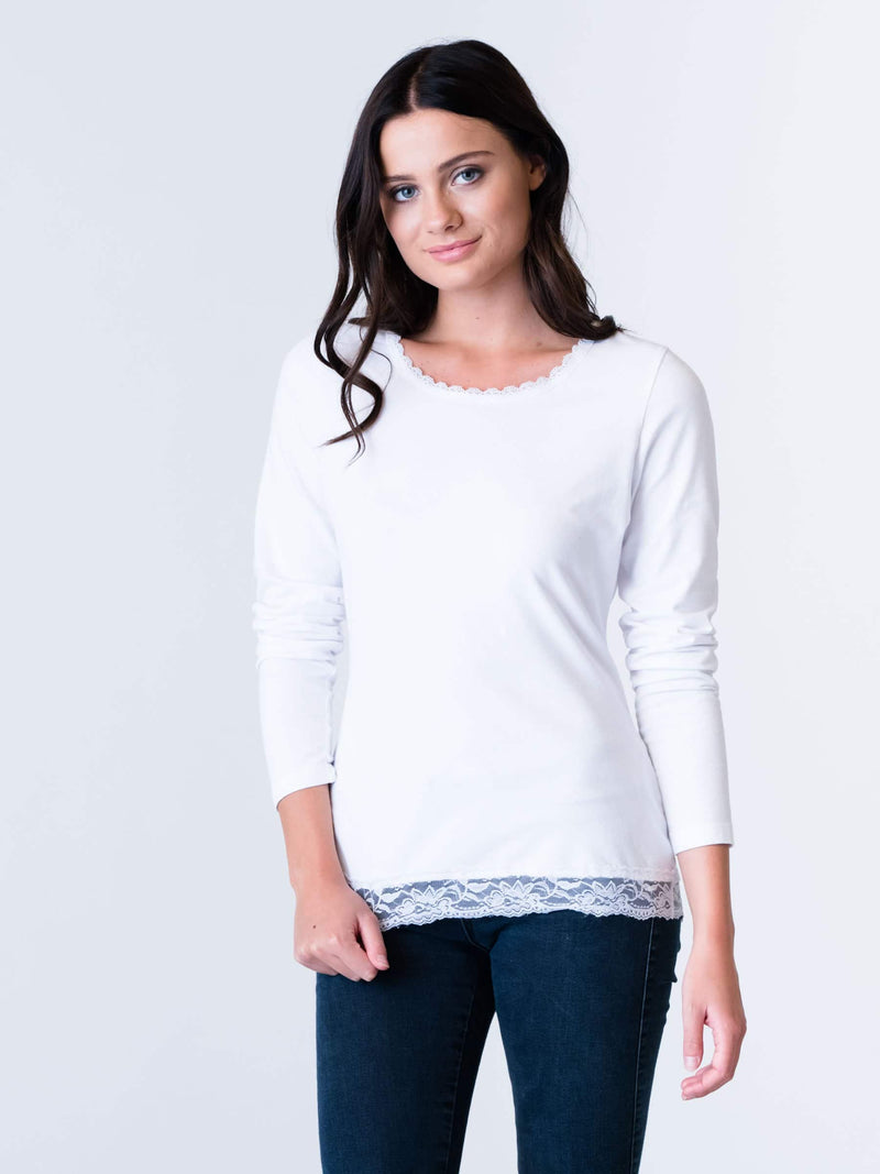 Lace T Shirt by Silver Pink