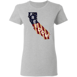 California Freedom Women's Tee - tyrannysucks