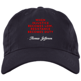 Resistance Becomes Duty Baseball Hat - tyrannysucks