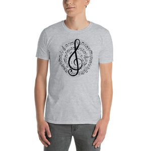 Treble Clef Short-Sleeve Unisex T-Shirt