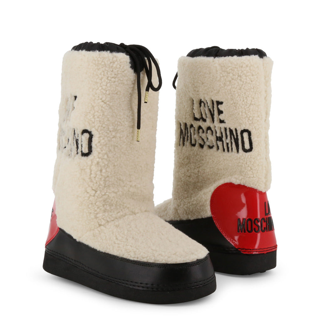 LOVE MOSCHINO FAUX SHEARLING SNOW BOOTS
