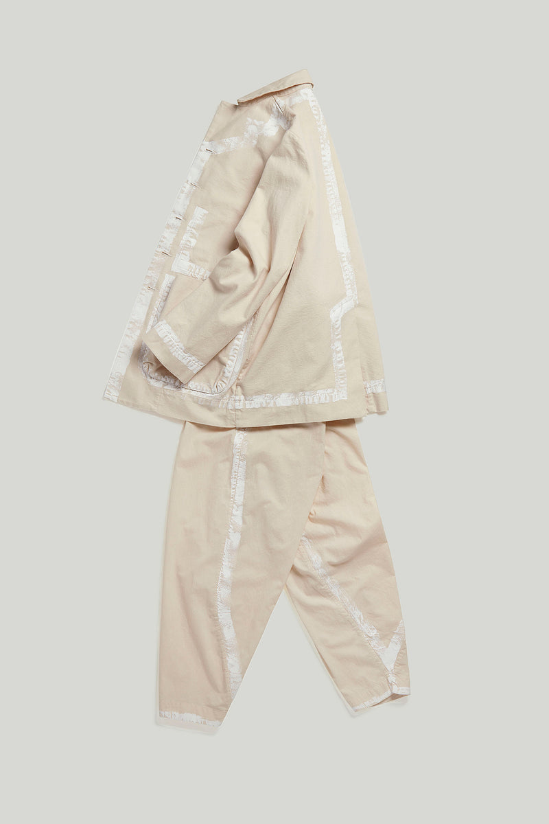The Acrobat Trouser / Raw Hand Painted