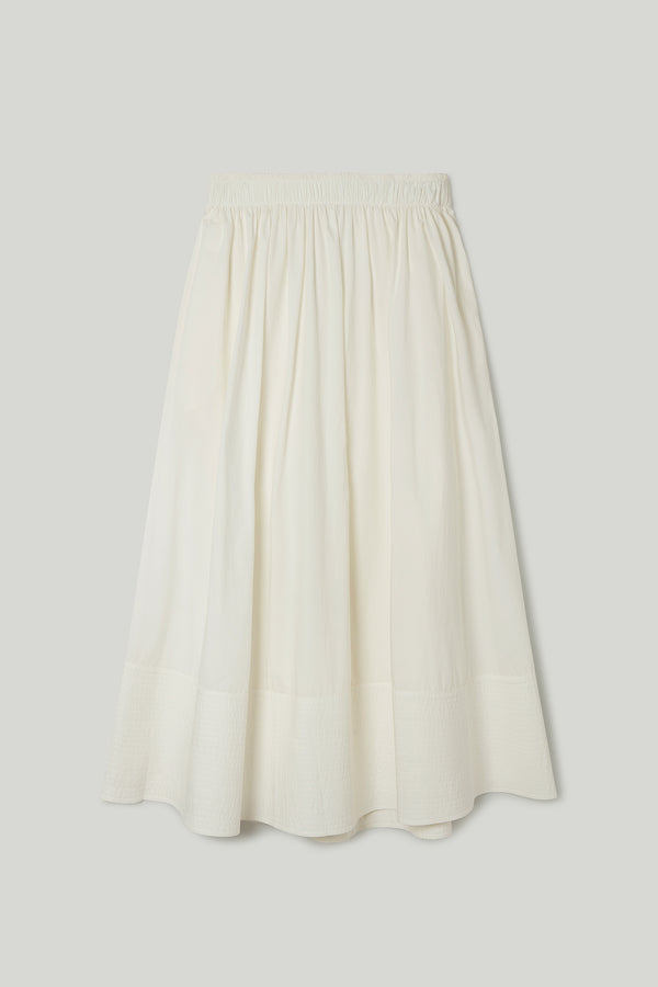 THE BELLRINGER SKIRT / CRISP COTTON CHALK