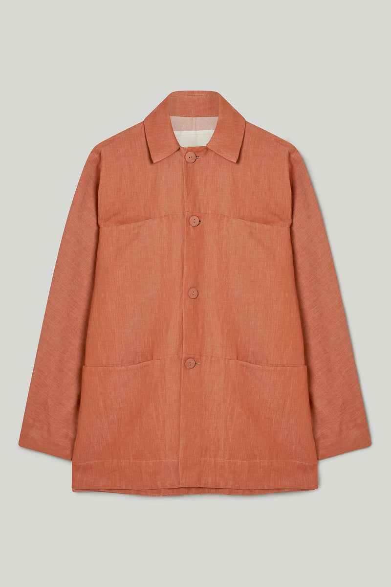 THE FARRIER JACKET / LINEN COTTON DRILL CLAY
