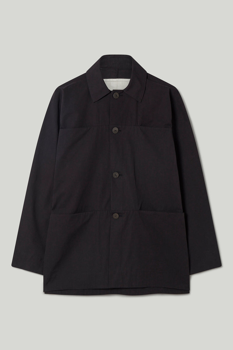 THE FARRIER JACKET / PLAIN COTTON SILK FLINT
