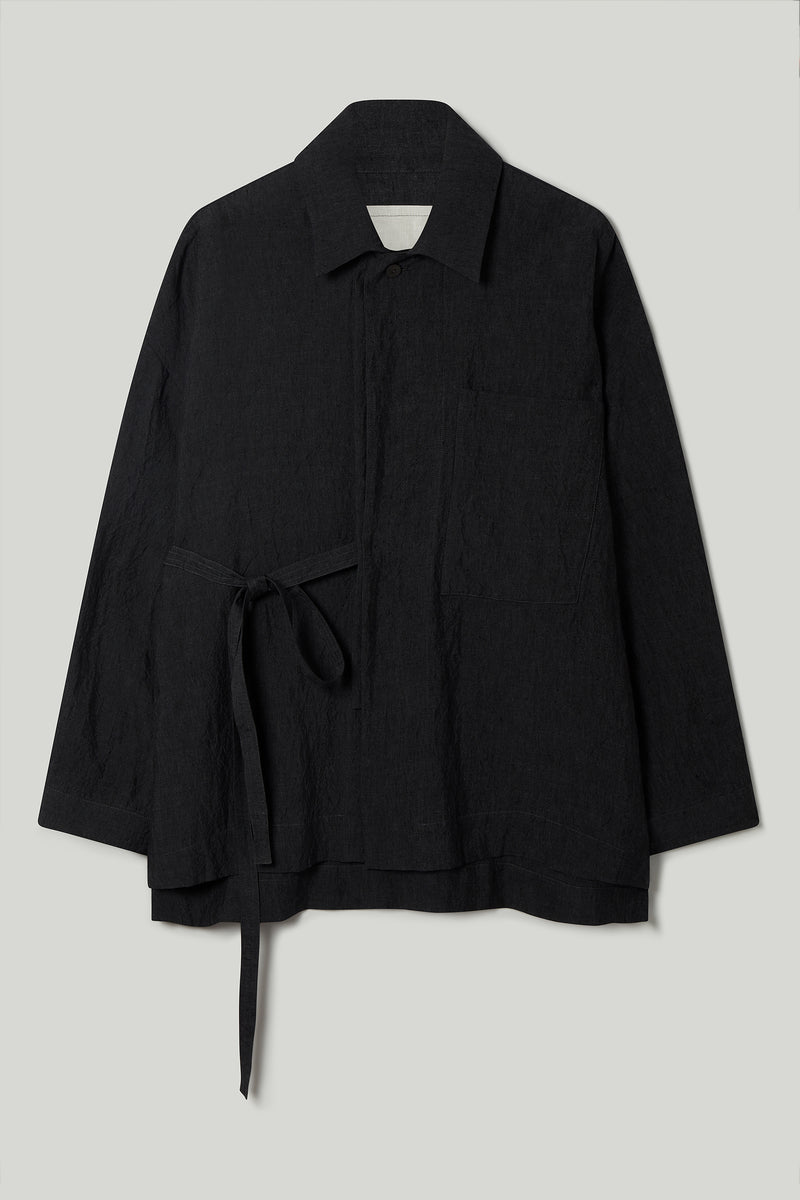 THE GLASSBLOWER JACKET / LAUNDERED LINEN CHARCOAL