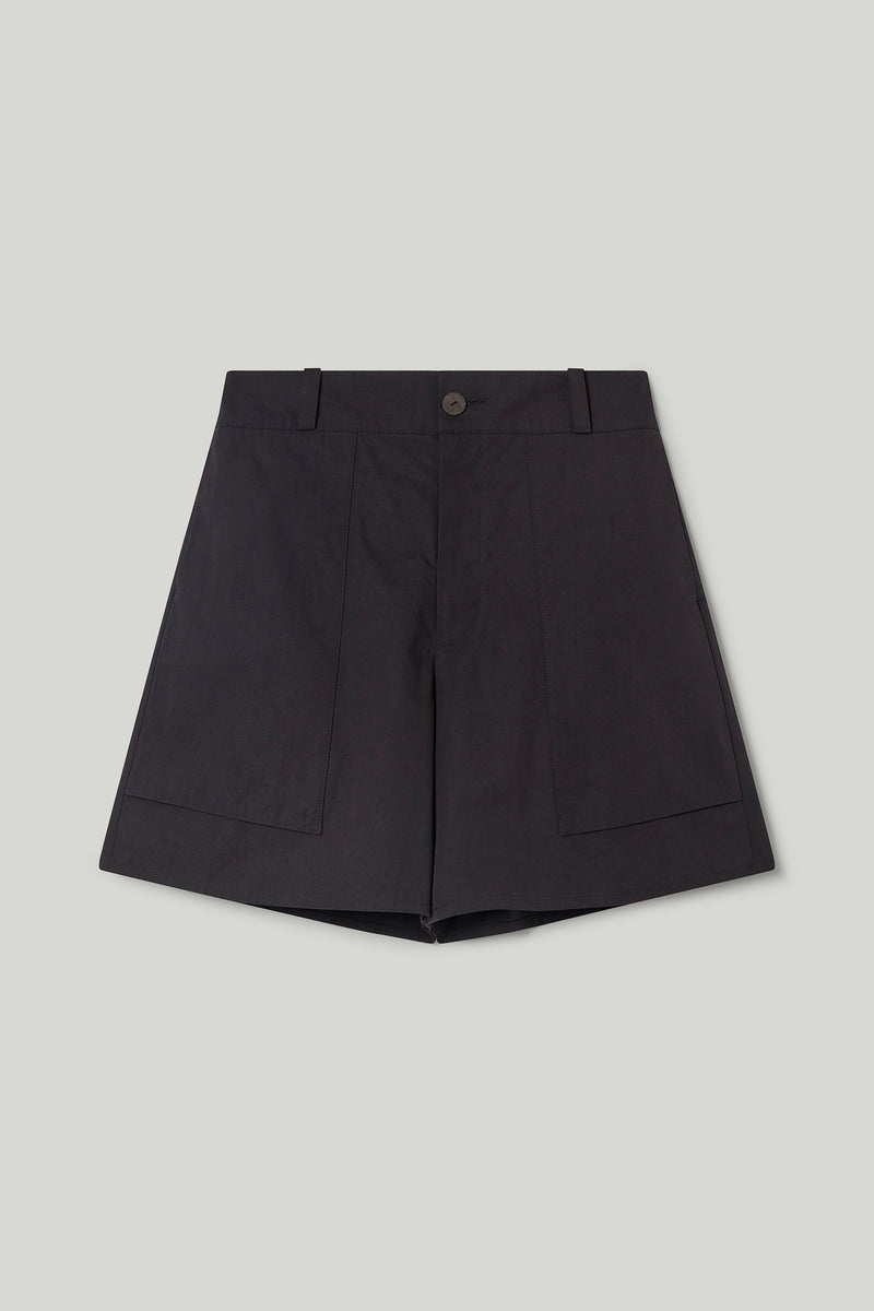 THE MACHINIST SHORT / PLAIN COTTON SILK FLINT