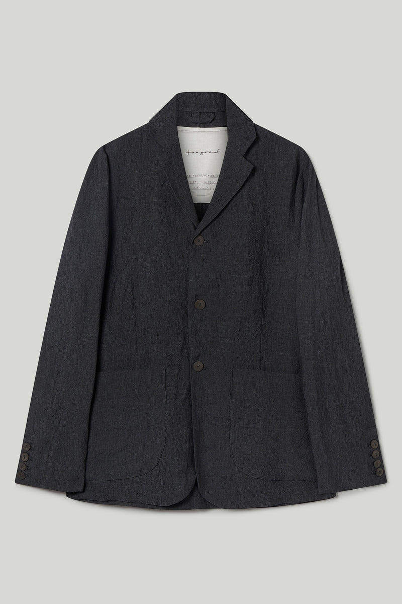 THE METALWORKER JACKET / LAUNDERED LINEN CHARCOAL