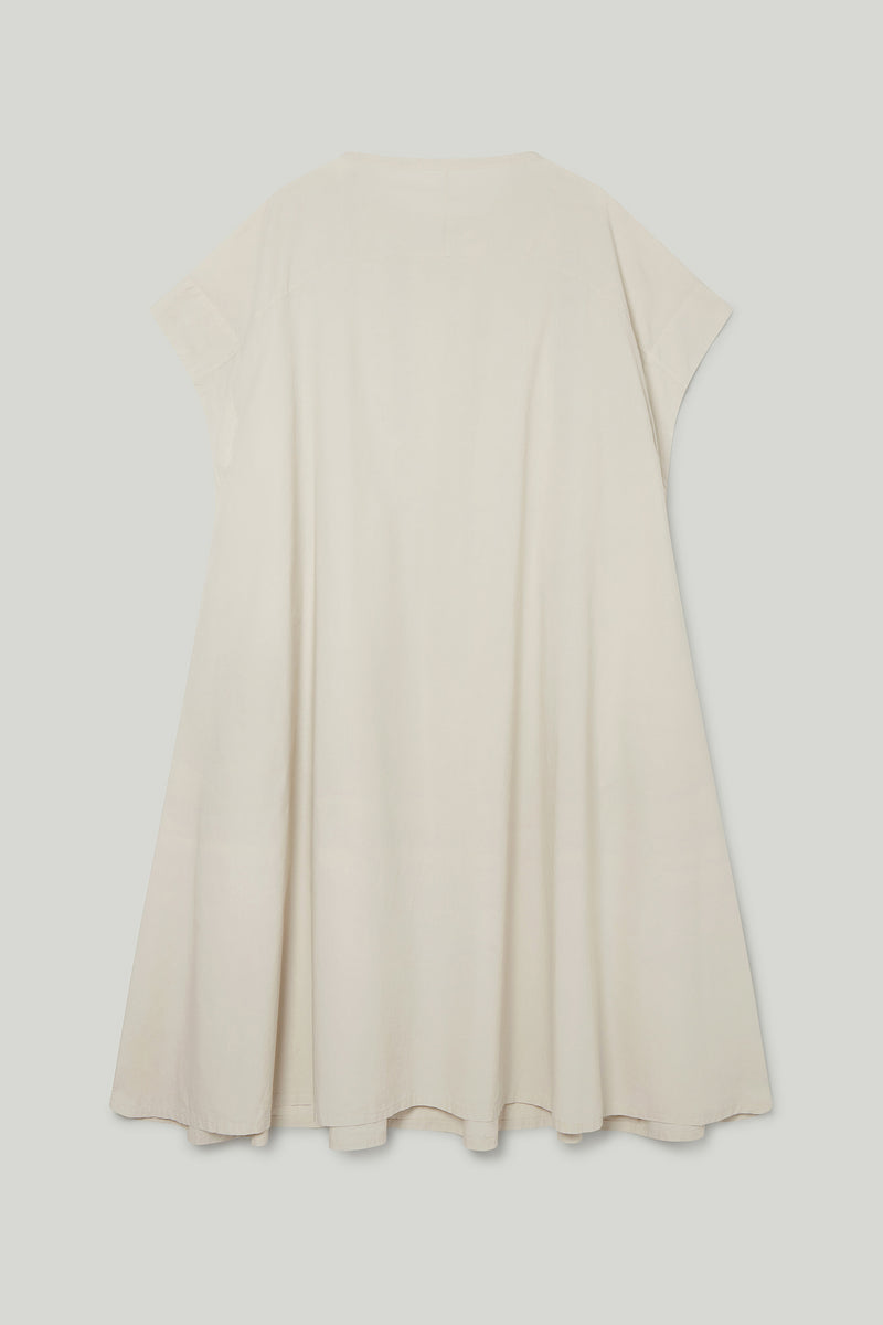 THE MUDLARK DRESS / POPLIN STONE