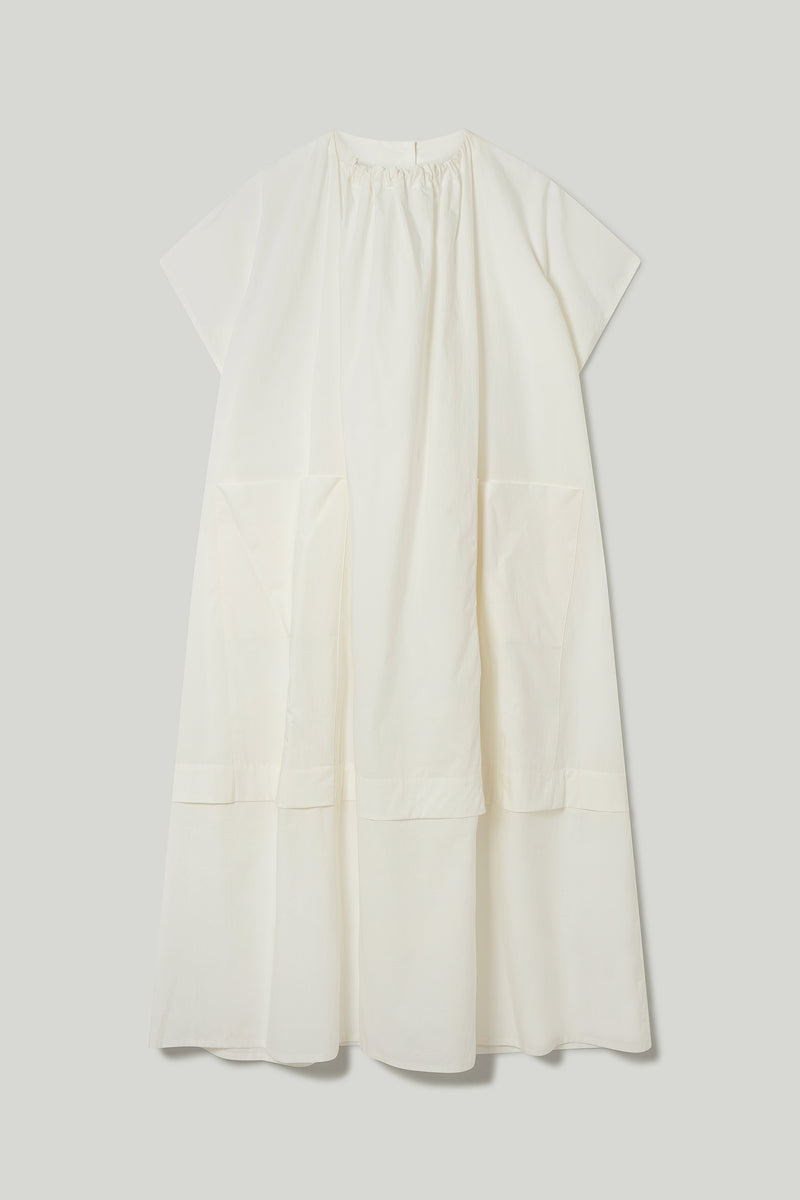 THE POET DRESS / CRISP COTTON CHALK