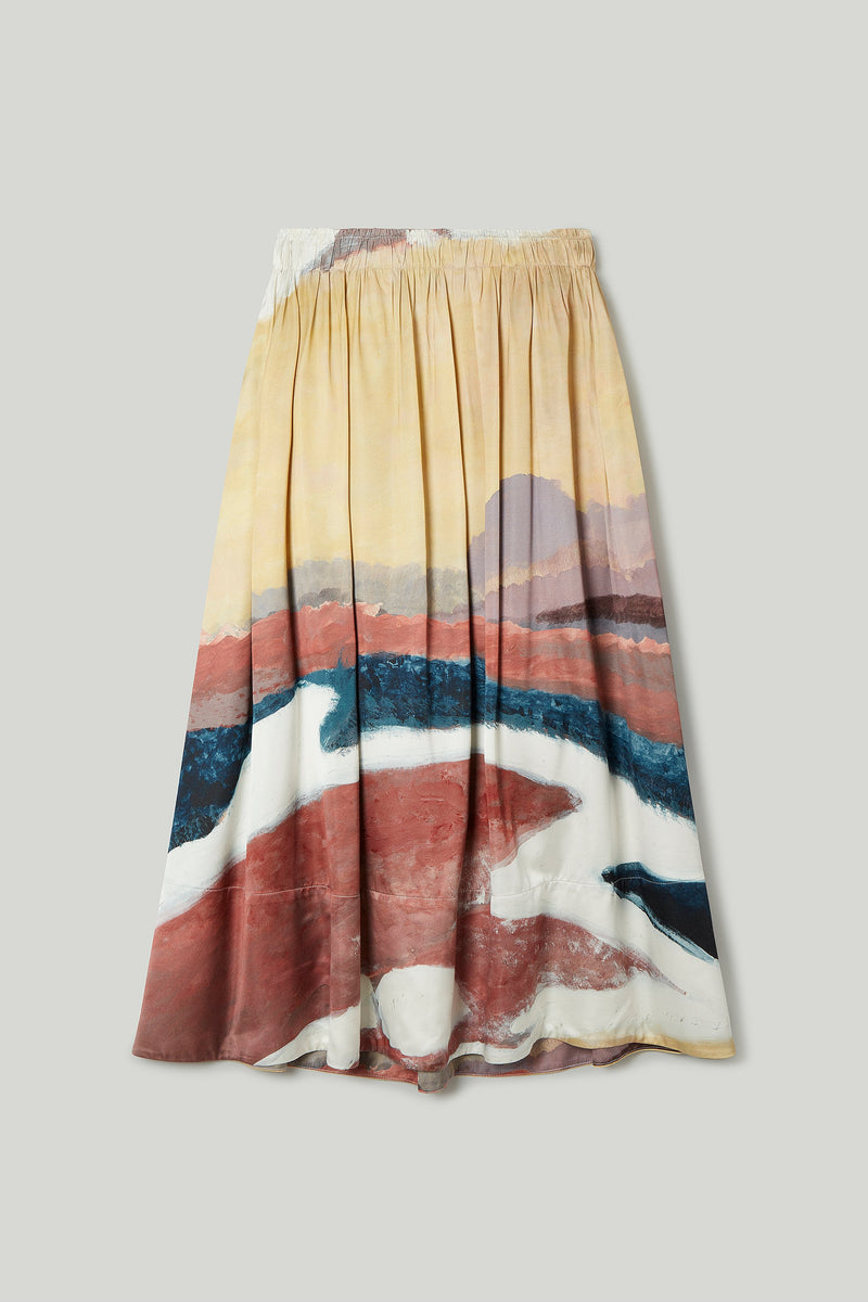THE BELLRINGER SKIRT / SATIN CLOTH WHITE HORSE