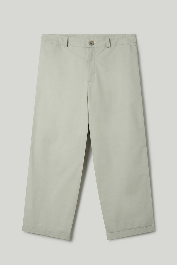 THE BRICKLAYER TROUSER / PLAIN COTTON SILK CELADON