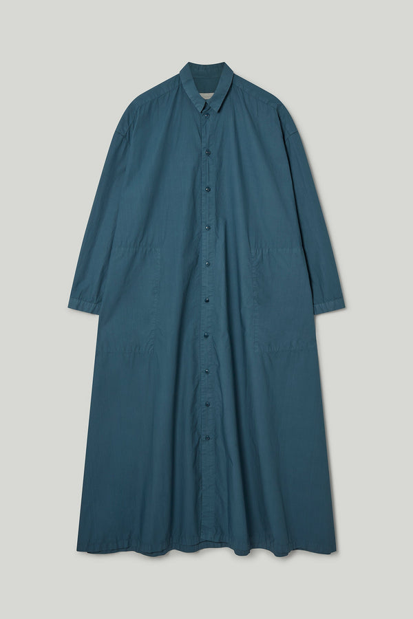 THE DRAUGHTSMAN DRESS / POPLIN FOG