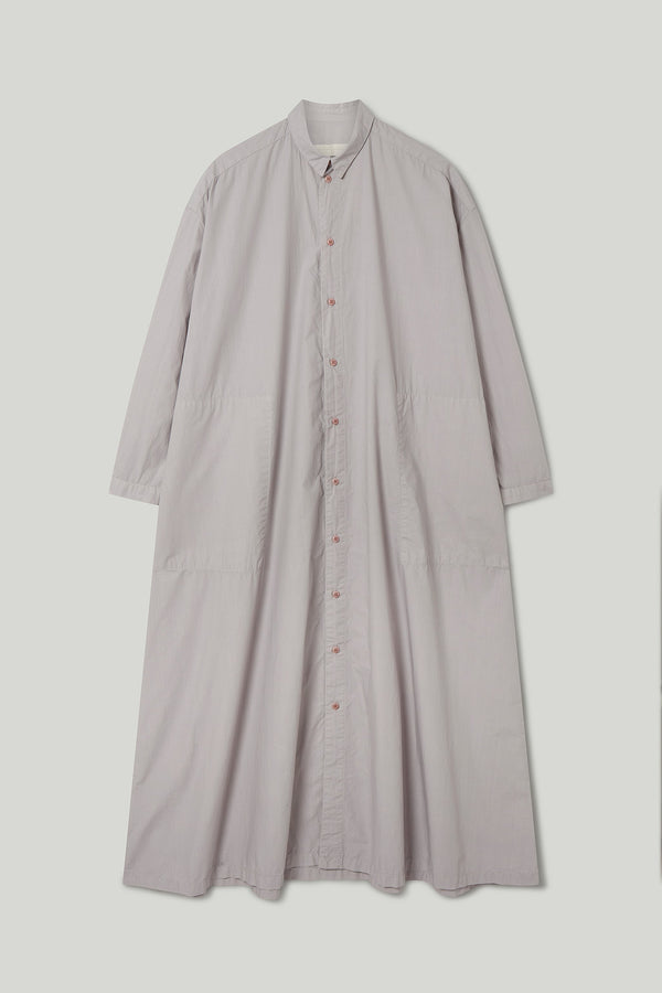 THE DRAUGHTSMAN DRESS / POPLIN PALE SLATE