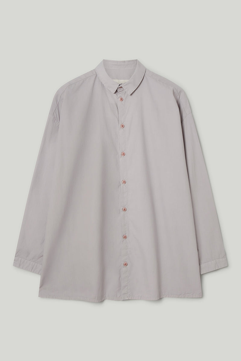 THE DRAUGHTSMAN SHIRT / POPLIN PALE SLATE