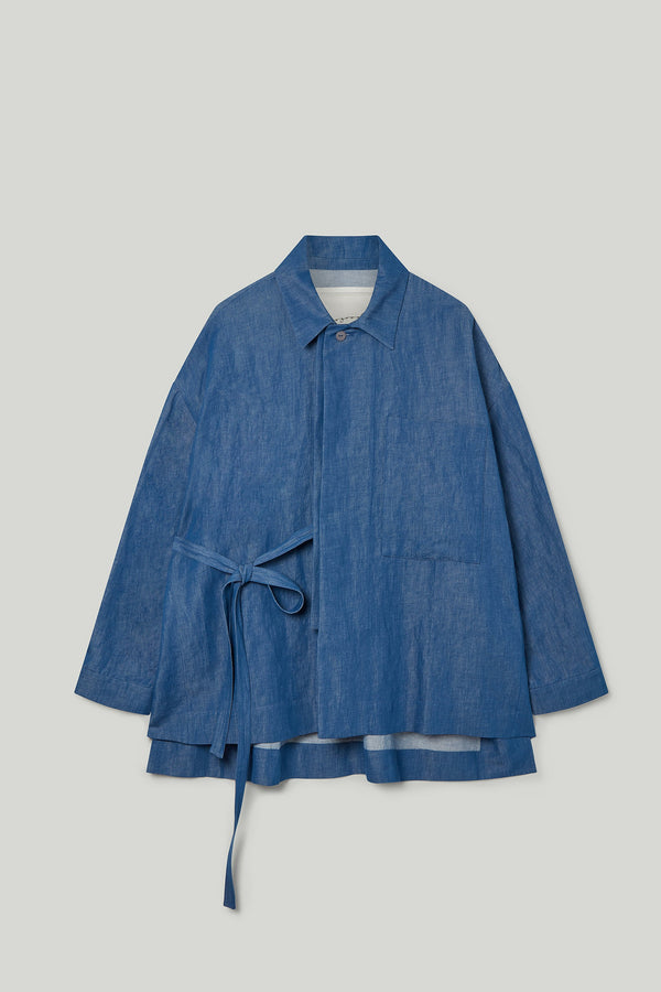 THE GLASSBLOWER JACKET / LINEN COTTON DRILL INDIGO