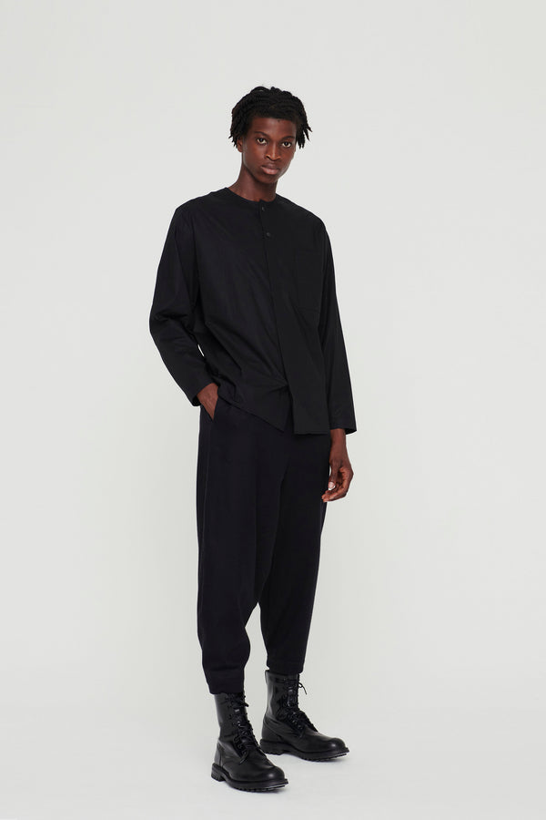 THE ACROBAT TROUSER / WOOL CASHMERE FLANNEL FLINT