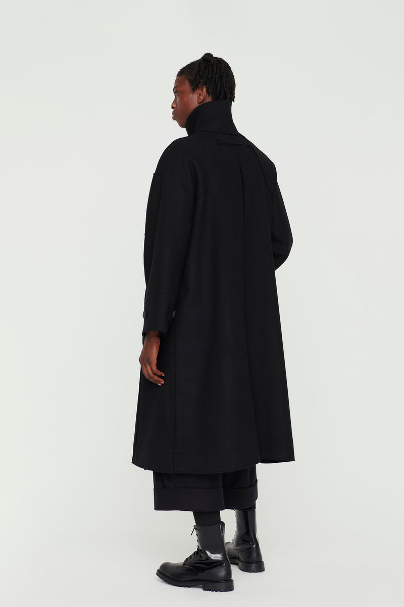 THE FENCER COAT / LAMBSWOOL FELT FLINT