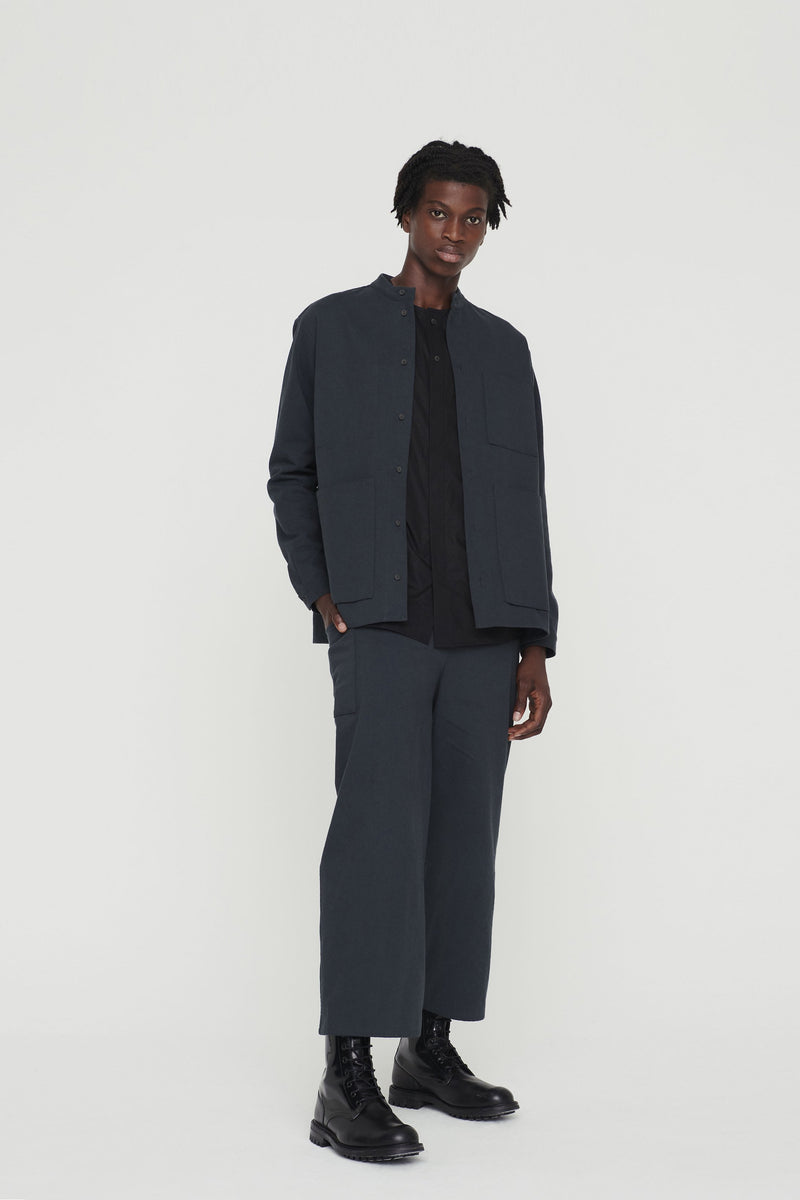 THE CONDUCTOR TROUSER / WOOL-COTTON DRILL NIGHT
