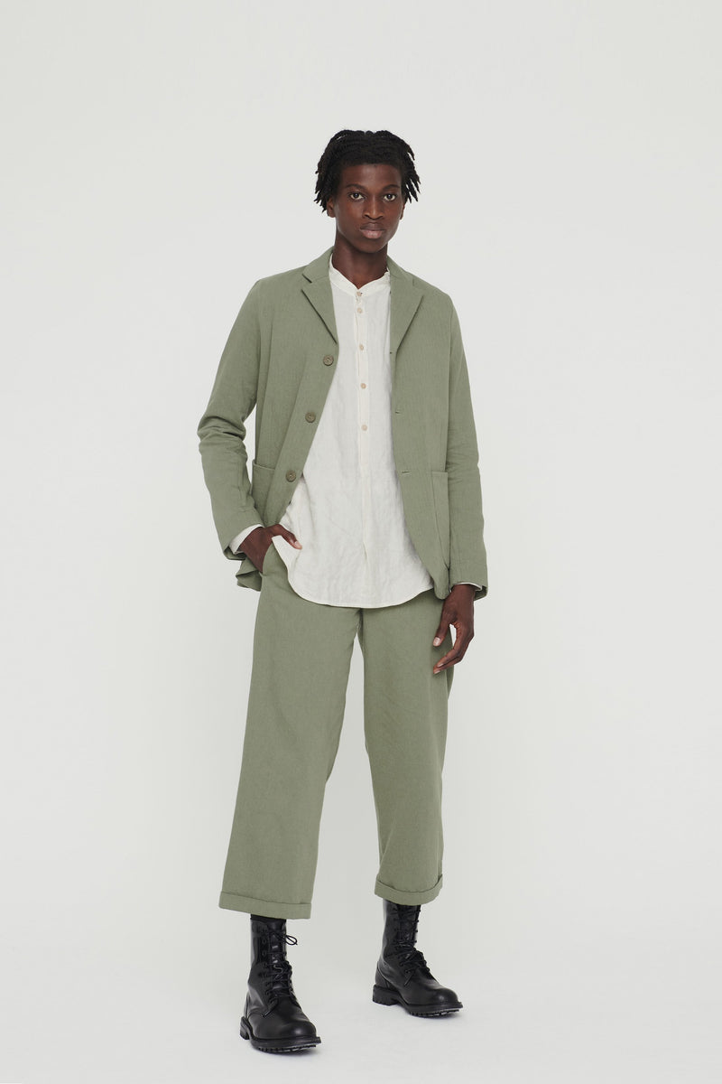 THE BRICKLAYER TROUSER / WOOL-COTTON DRILL LICHEN