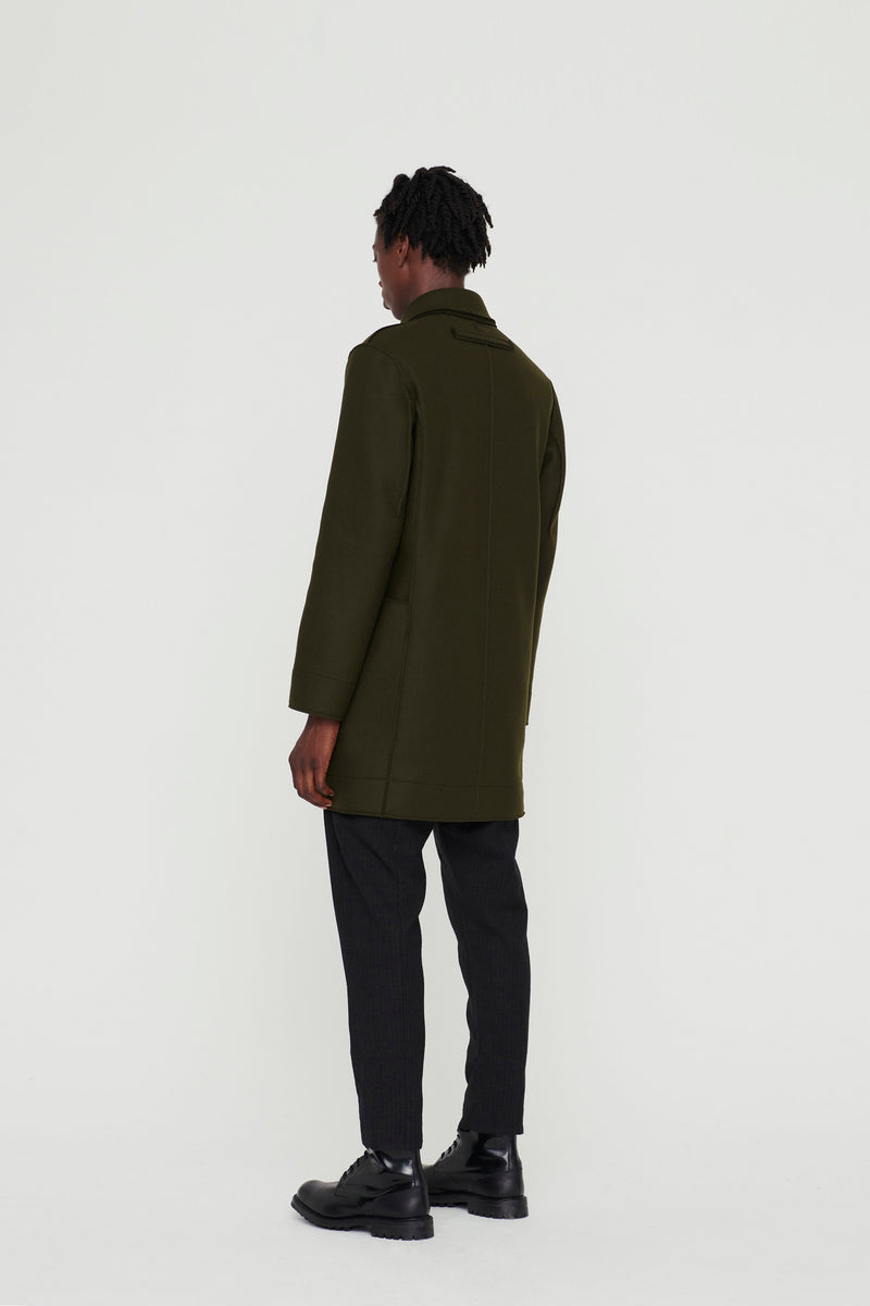 THE REEFER COAT / LAMBSWOOL FELT FOREST