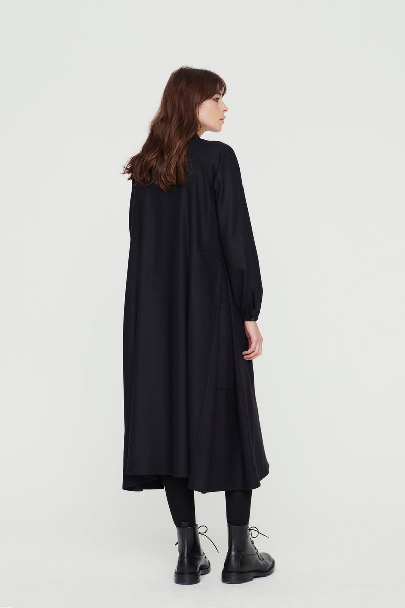 THE BOTANIST DRESS / WOOL CASHMERE FLINT