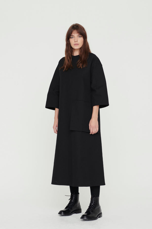 THE FENCER DRESS / TEXTURED COTTON FLINT