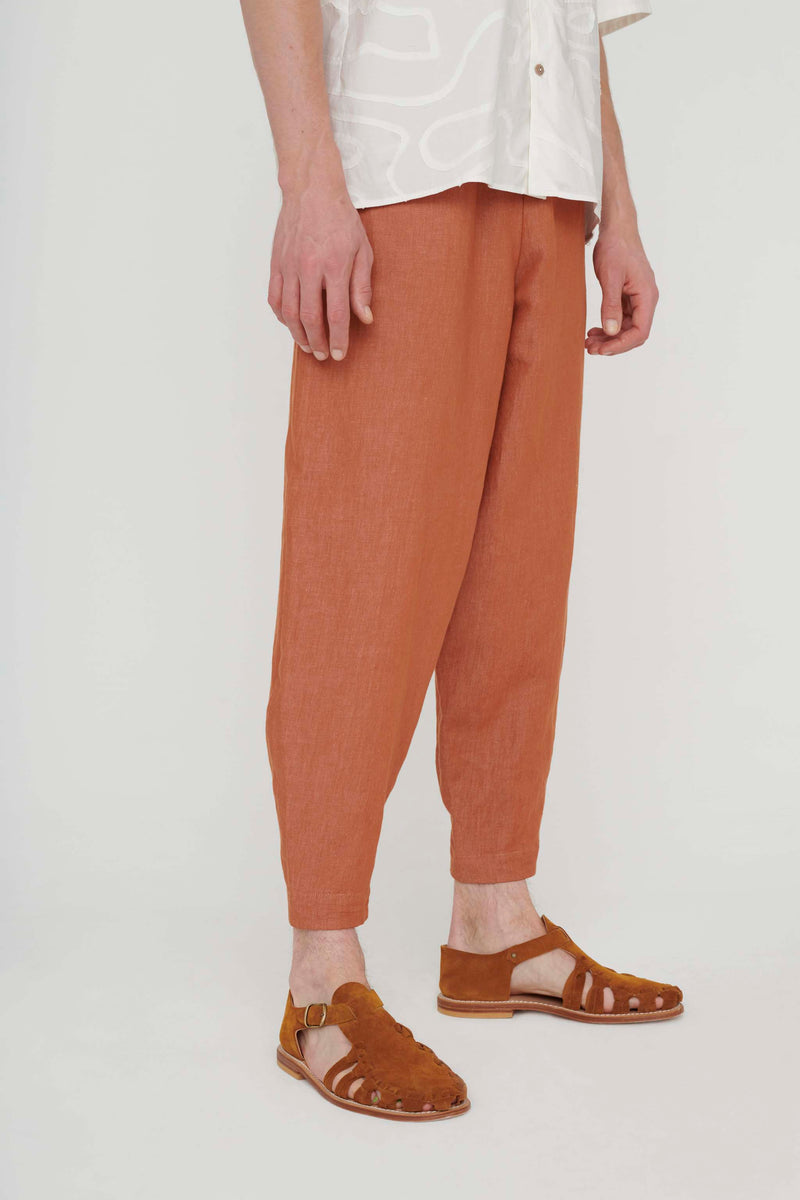 THE ACROBAT TROUSER / LINEN COTTON DRILL CLAY