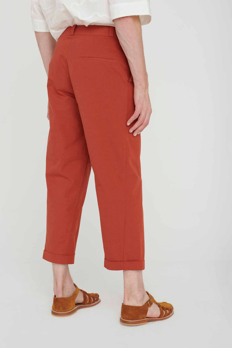 THE BRICKLAYER TROUSER / PLAIN COTTON SILK CLAY