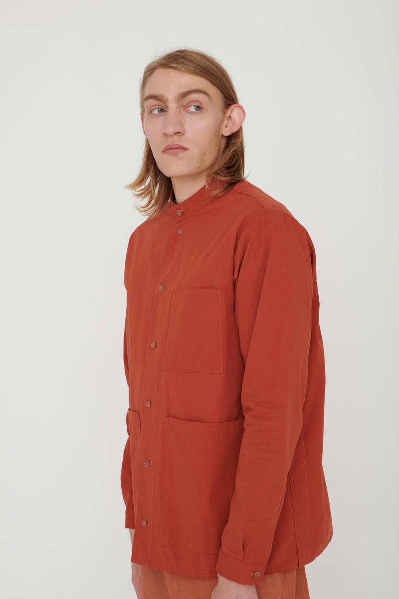 THE LOCKSMITH SHIRT / PLAIN COTTON SILK CLAY