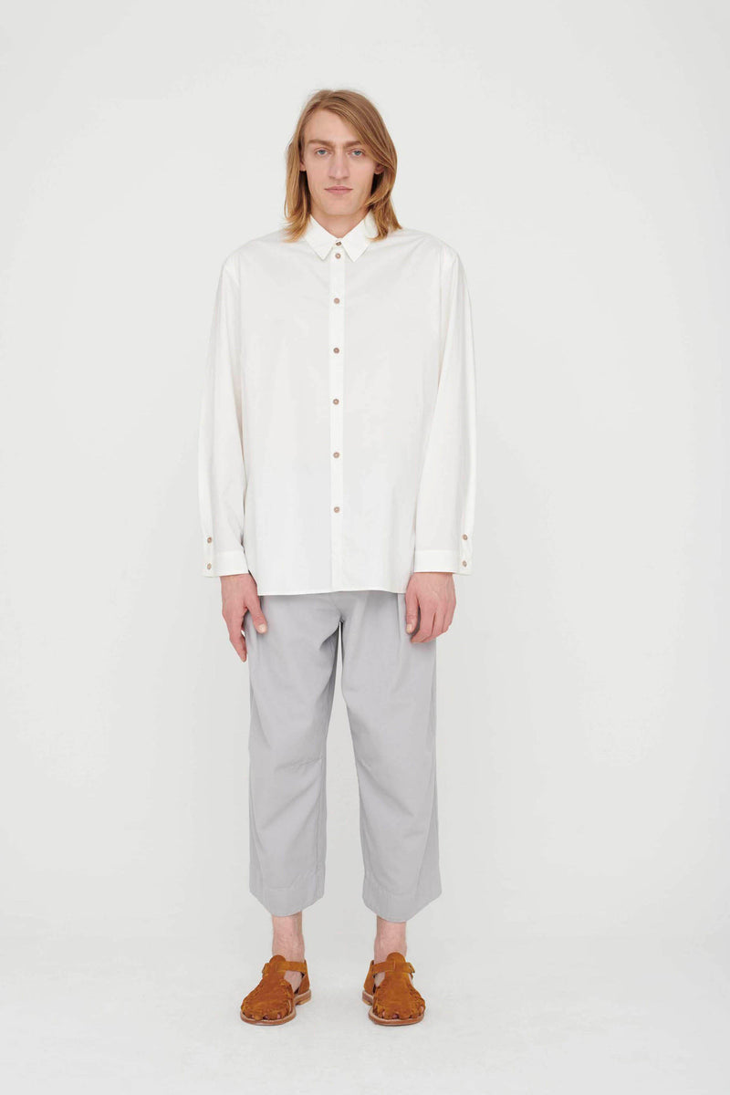 THE POET SHIRT / CRISP COTTON CHALK