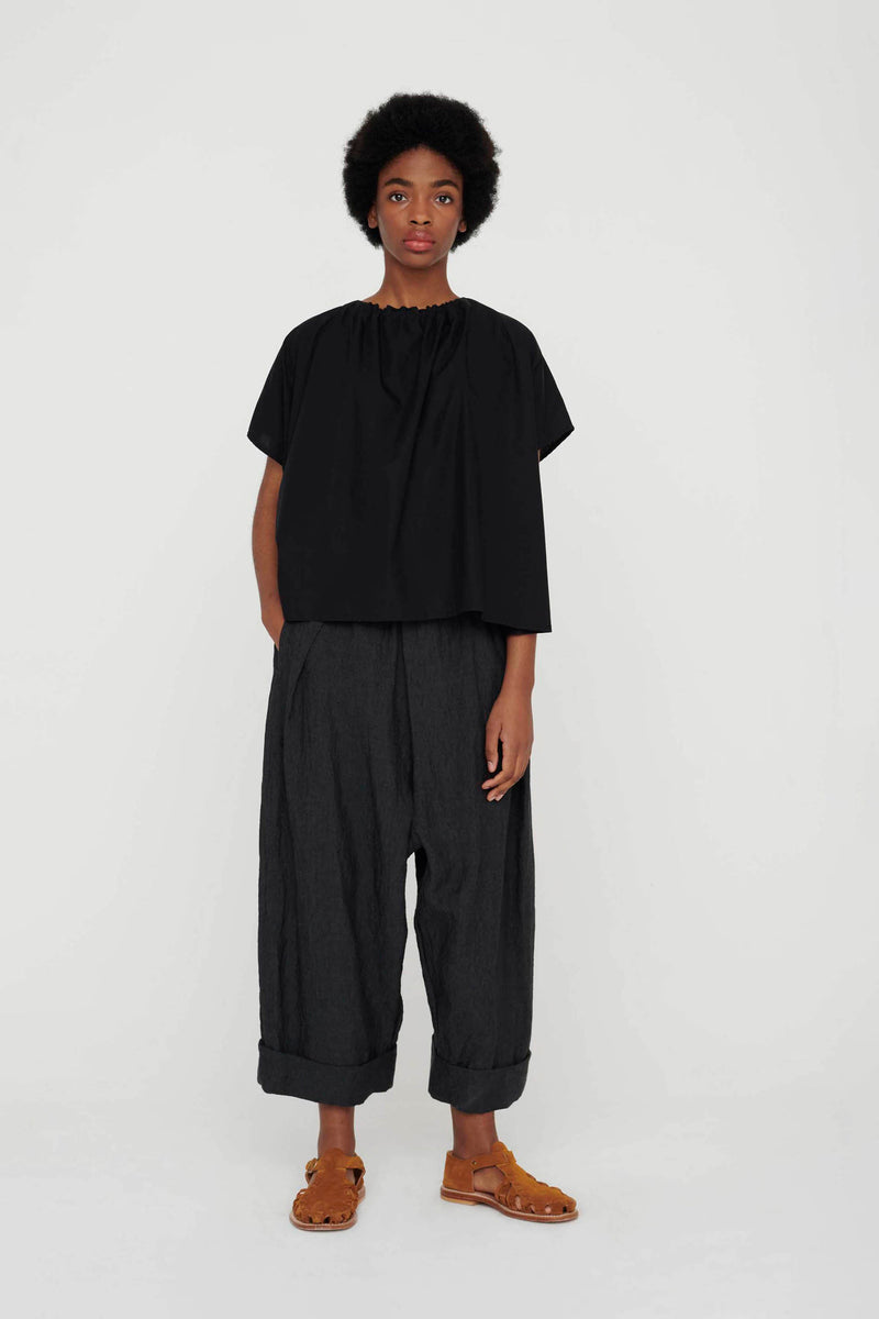 THE BAKER TROUSER / LAUNDERED LINEN CHARCOAL