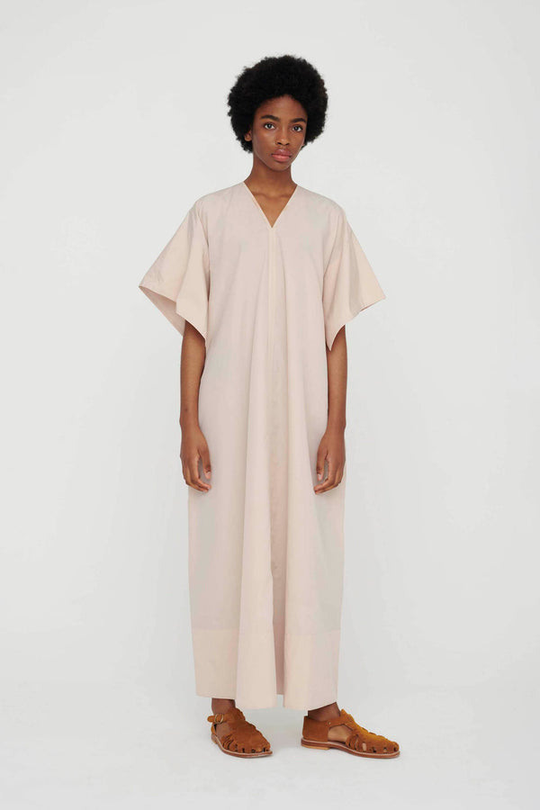 THE BOOKSELLER DRESS / WASHED COTTON SILK BARLEY