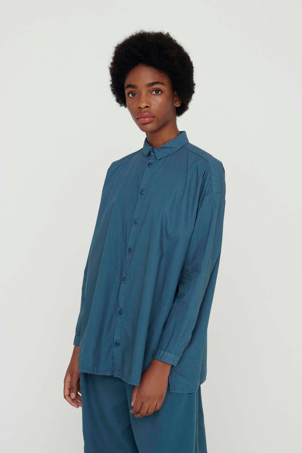 THE DRAUGHTSMAN SHIRT / POPLIN FOG