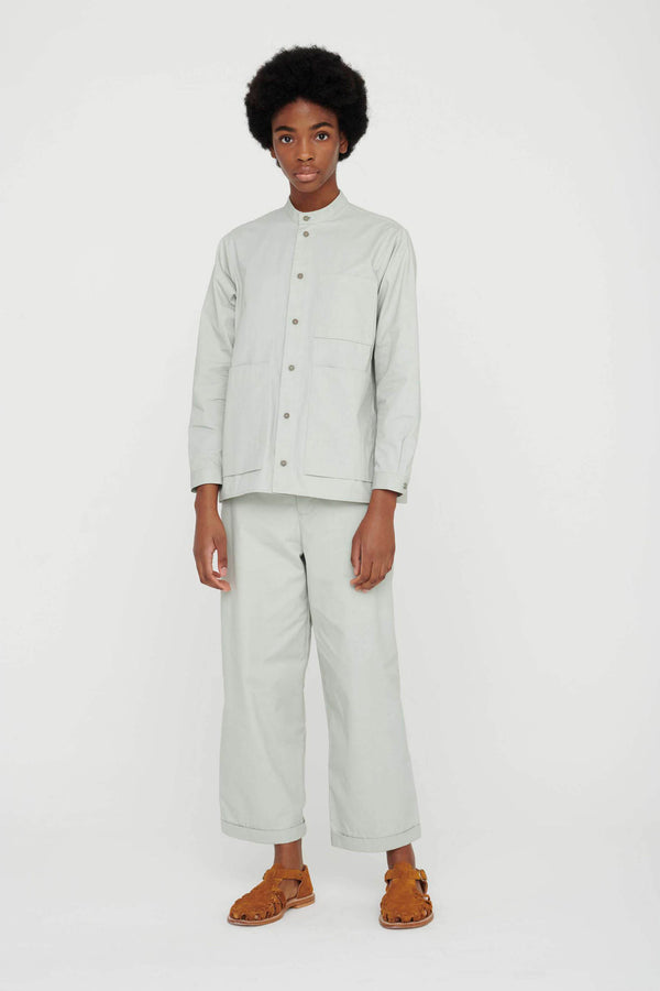 THE LOCKSMITH SHIRT / PLAIN COTTON SILK CELADON